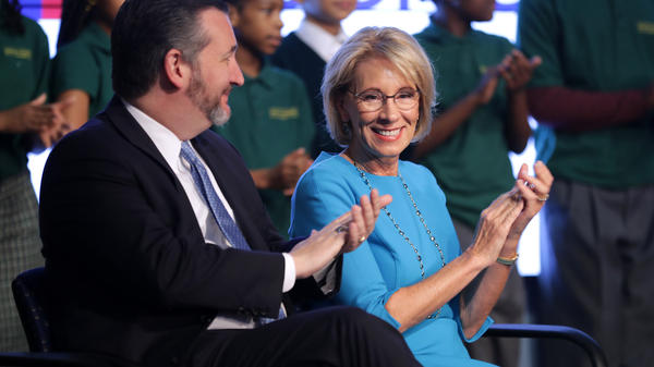 Education Secretary Betsy DeVos and Sen. Ted Cruz announced their proposal for Education Freedom Scholarships on Thursday. The scholarships would allow students to attend private schools or take part in apprenticeships, among other things.