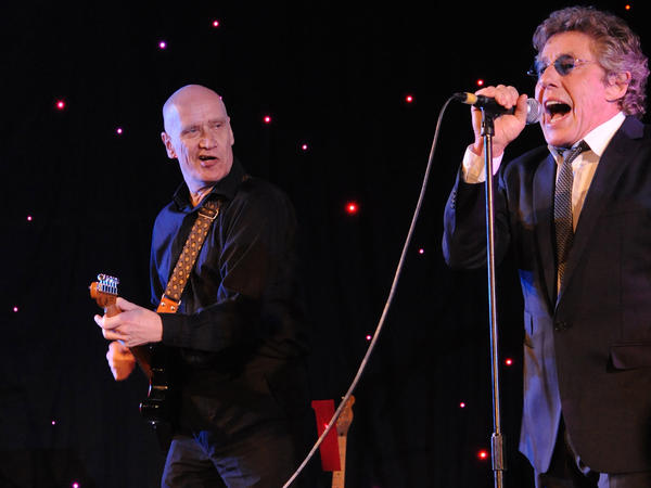 Wilko Johnson (left) and Roger Daltrey play a benefit for Pancreatic Cancer UK in London.
