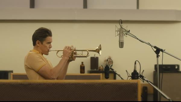 Ethan Hawke as Chet Baker in <em>Born to Be Blue</em>.