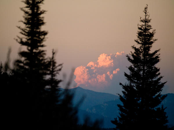 A fire in the Boise National Forest.