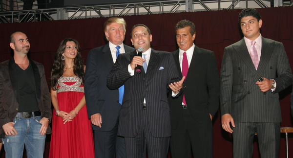 Felix Sater (center) attends the Trump Soho Hotel Condominium launch party in New York in September 2007. Sater is scheduled to testify before Congress on March 14.