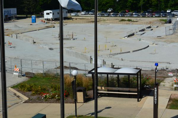 Many projects, like this one at Kankakee Community College, were frozen mid-construction during the recent state budget impasse.