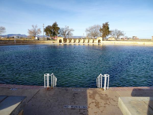 The spring-fed swimming pool at Balmorhea State Park, 120 miles southwest of Midland, has been closed since May.