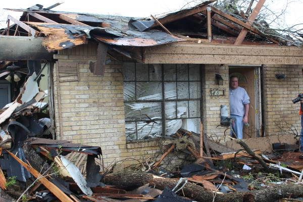 A tornado struck Greg Goza's north central San Antonio home on Feb. 21, 2017.