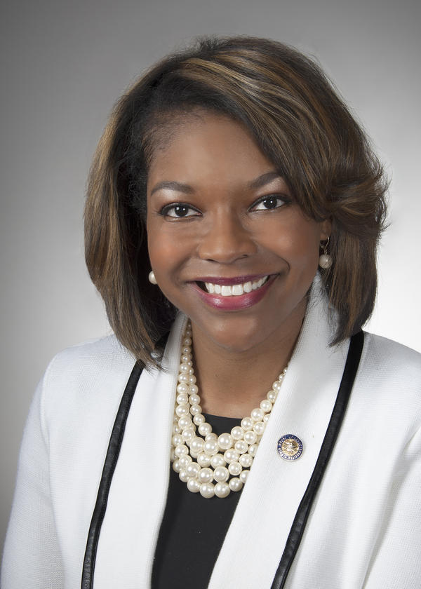 House minority leader Emilia Sykes (D-Akron) responded to Gov. DeWine's state of the state address.