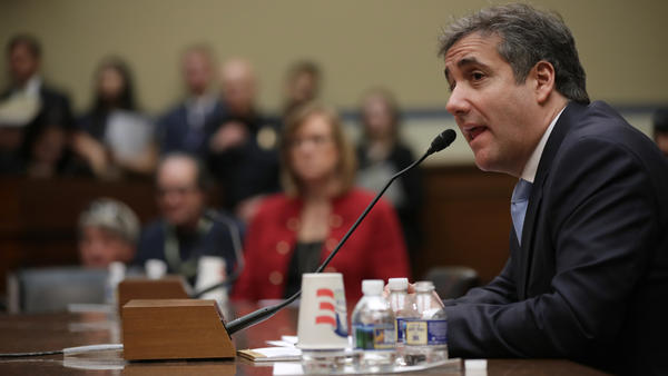 Michael Cohen, former attorney and fixer for President Trump, testifies before the House oversight committee on Capitol Hill on Feb. 27 in Washington, D.C.