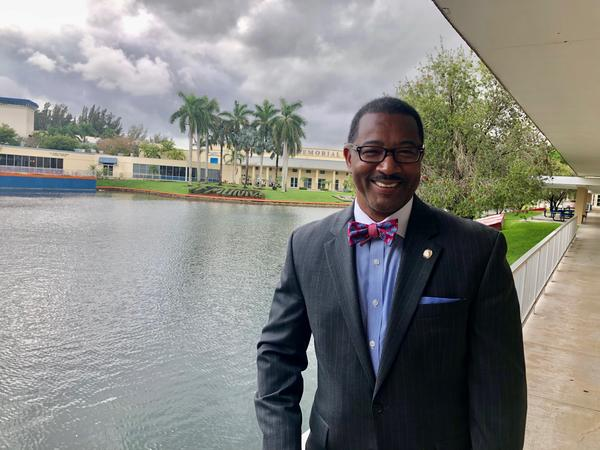 Jaffus Hardrick is the interim president of Florida Memorial University, the only historically black university in South Florida. He was a top administrator at the public Florida International University for a decade before taking on the new position.