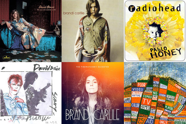 Exploring albums that were released 10 years apart from David Bowie, Brandi Carlile, Radiohead and more.