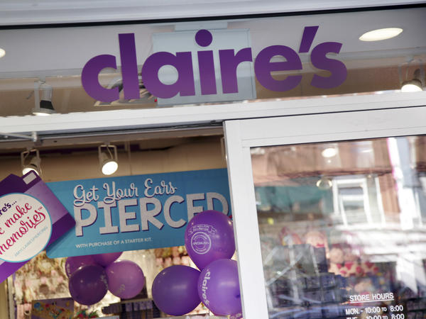 "Claire's stores, such as this one in New York, are a common sight in U.S. malls. The company says its ""products are safe"" and disputes the FDA's findings, saying they ""show significant errors."""