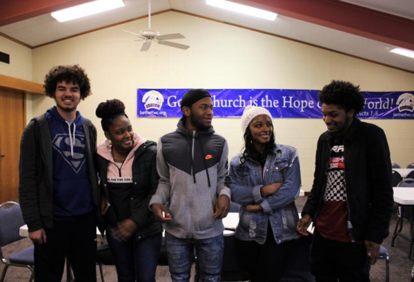 These South Kansas City teens found family and a place to 'feel loved' at Hope Hangout, across the street from Ruskin High School. Left to right: Tobias Langston, Amyah Williams, Treyon Brown, Ryah Williams and Derrion Williams.