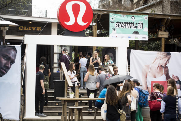 "The workout apparel retailer Lululemon ""took over"" Clive Bar on Rainey Street last week and turned it into a meditation spot for SXSW festivalgoers."