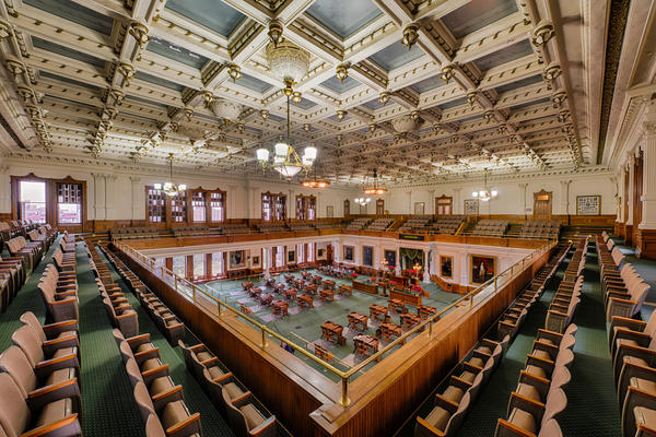 The Texas Senate chamber.