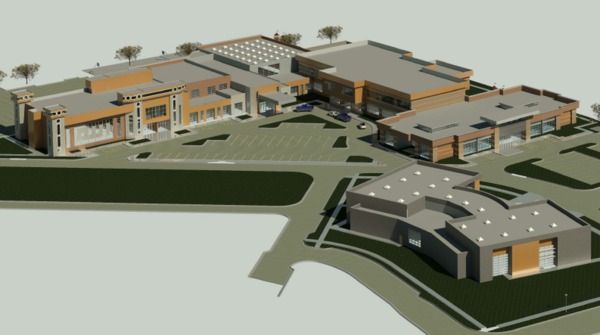 A rendering of the proposed facility.