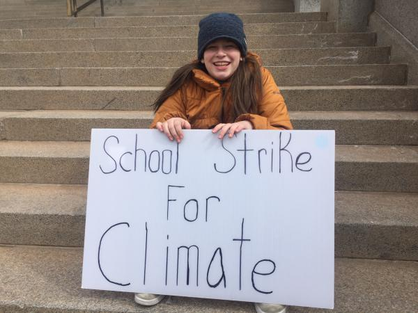 Denver-based, Haven Coleman, is one of the three organizers for the US Youth Climate Strike