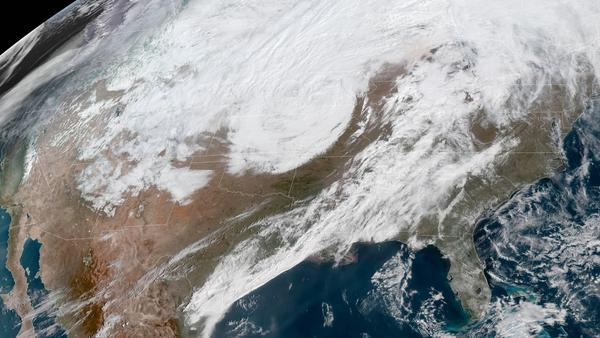 A massive late winter storm is bringing blizzard conditions to a number of central U.S. states Thursday. In affected areas, many agencies are shutting down and urging people to stay off the roads.