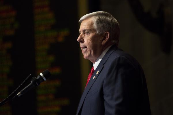 Gov. Mike Parson delivers his first State of the State address Jan. 16, 2019.