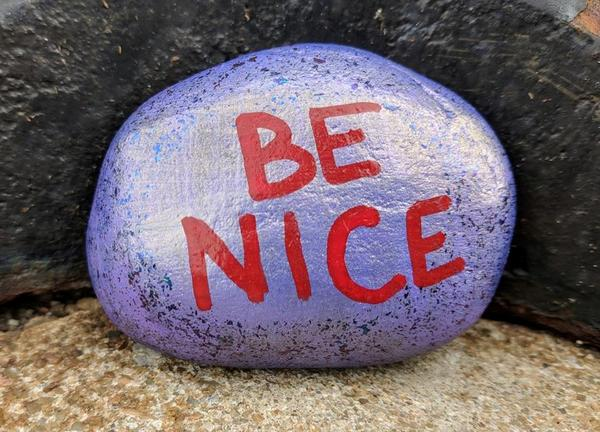 Raytown, Missouri, has 4300 people who participate in the Kindness Rocks Project, leaving kind messages on painted rocks for others to find.