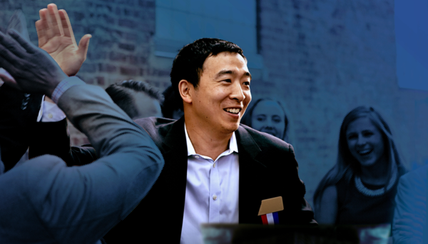Democratic presidential candidate Andrew Yang.