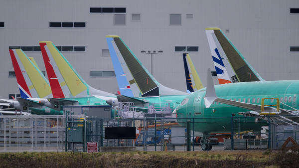 President Trump plans to nominate Stephen Dickson to lead the Federal Aviation Administration. The agency is under scrutiny for its response to two crashes of Boeing 737 airplanes, which are pictured here outside Boeing's factory in Renton, Wash., on March 14.
