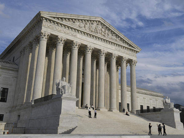 The U.S. Supreme Court in Washington where the justices ruled that the government can detain certain immigrants without bond hearings.