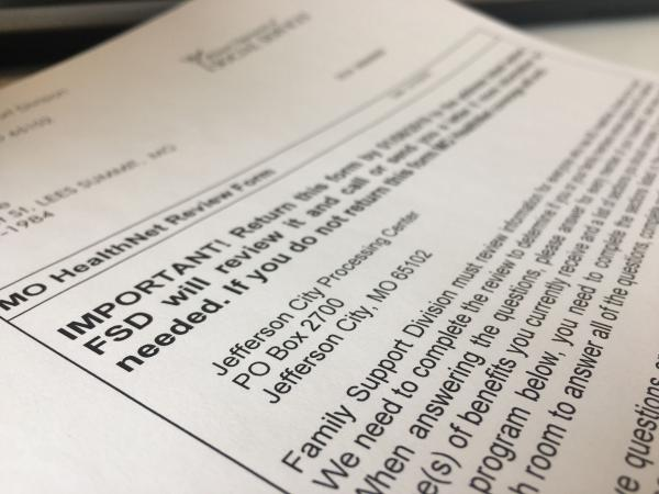 An example of a re-enrollment notice sent to Missouri Medicaid enrollees last year.