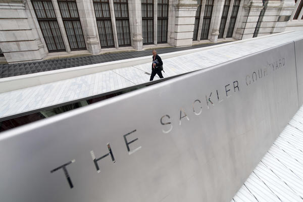 The Sackler Trust and Foundation both announced they would temporarily suspend charitable giving in the U.K. The Sackler Courtyard is a 2017 addition to the Victoria and Albert museum in London.