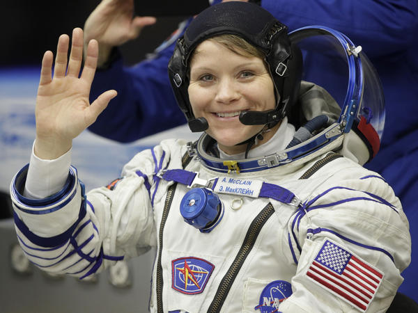 While she was working last week, U.S. astronaut Anne McClain realized that she needed a medium-size suit for spacewalking.