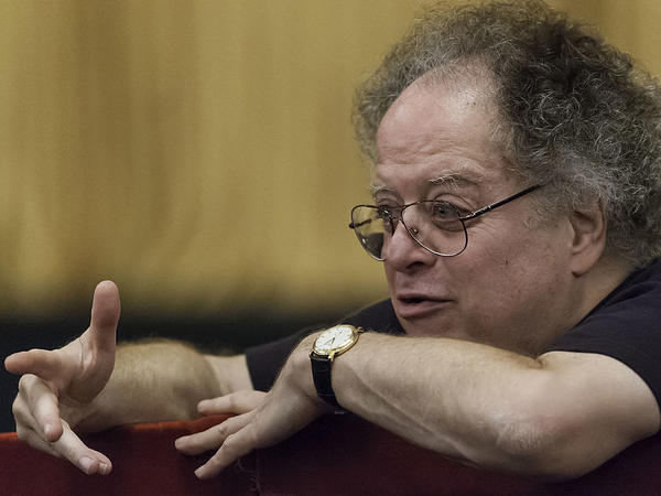 James Levine, in rehearsal at the Metropolitan Opera in 2008.