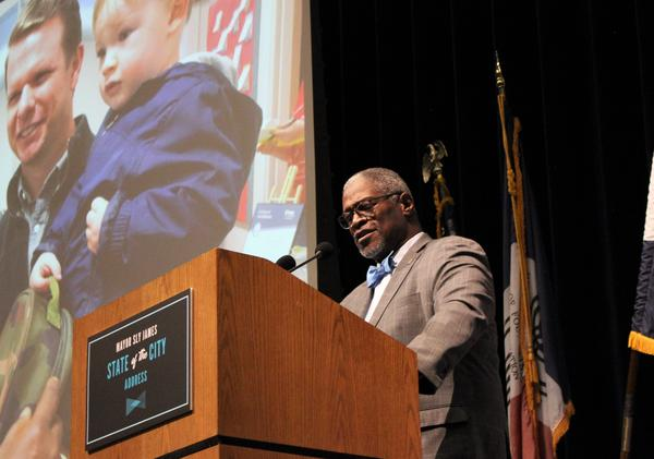 Much of Kansas City Mayor Sly James final State of the City address Tuesday night centered around early childhood education.