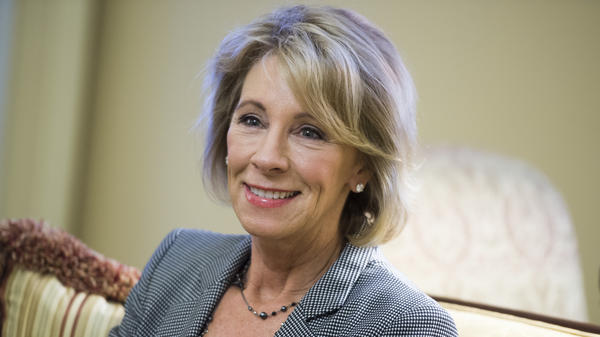 Betsy DeVos, nominee for education secretary.
