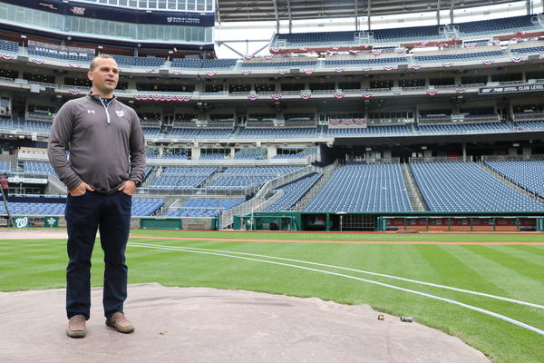 The Nationals' director of field operations, John Turnour, looks over his domain.