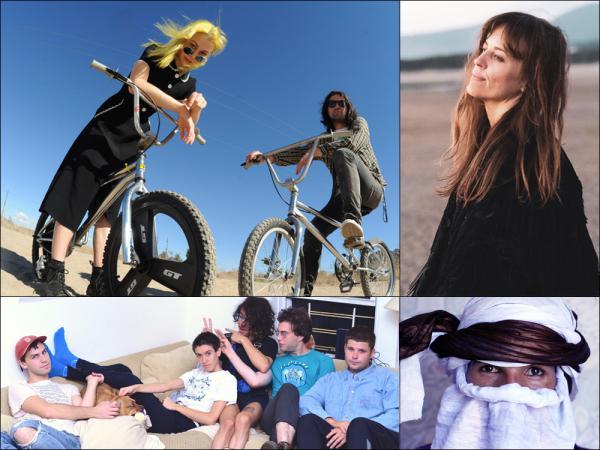 Clockwise from upper left: Better Oblivion Community Center, Heather Woods Broderick, Mdou Moctar, Bellows