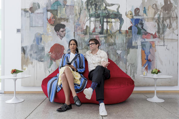 As in Dan Gilroy's previous film, Jake Gyllenhaal stars in the comedy-horror hybrid <em>Velvet Buzzsaw. </em>Gyllenhaal plays an art critic named Morf, while Zawe Ashton plays gallery assistant Josephina.
