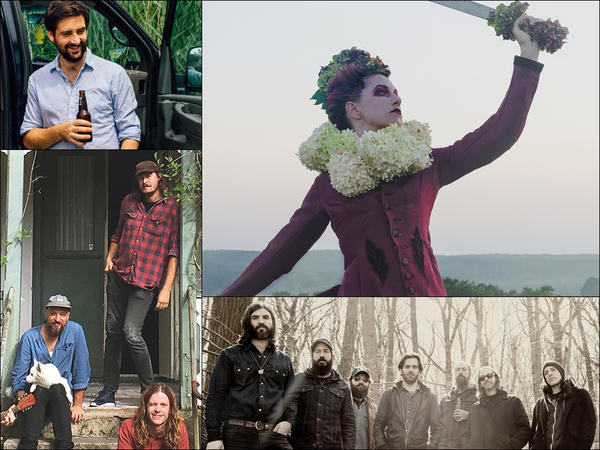 Clockwise from upper left: Pkew Pkew Pkew, Amanda Palmer, Budos Band, Daniel Norgren