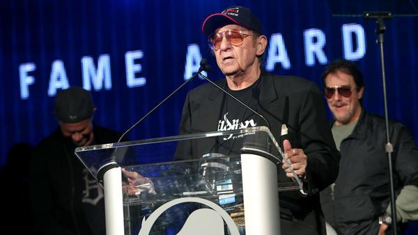 Drummer Hal Blaine attends an awards ceremony in Anaheim, Calif., in 2014.