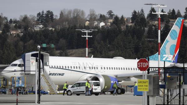 A Boeing 737 MAX 8 airplane pictured on Thursday in Seattle.