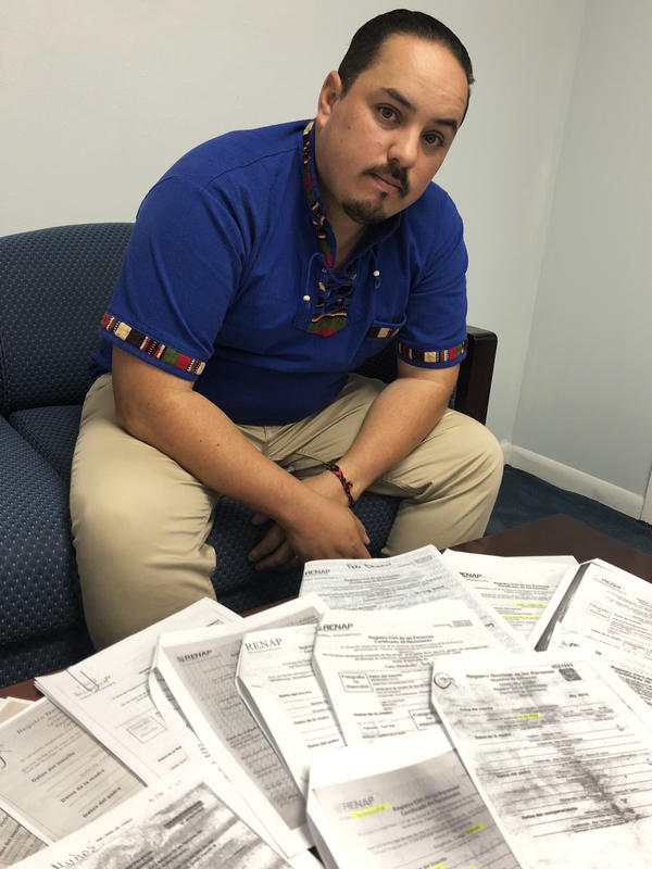 Tekandi Paniagua, Guatemalan consul in Del Rio, Texas, says the price for fake documents ranges from $200 to $700. He says it's an additional service provided by organizations that work for human smugglers.