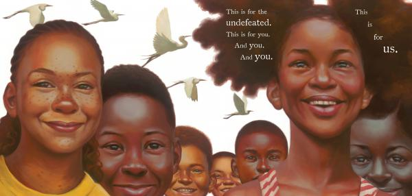 "Artist Kadir Nelson illustrates Kwame Alexander's poem <a href=""http://theundefeated.com/videos/this-one-is-for-us/"">""The Undefeated""</a> in a new picture book."