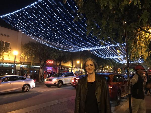 Sarah Hannah-Spurlock, Fort Lauderdale Nighttime Economy Manager, stops by the Himmarshee Entertainment District to observe at bars on March 22, 2019.