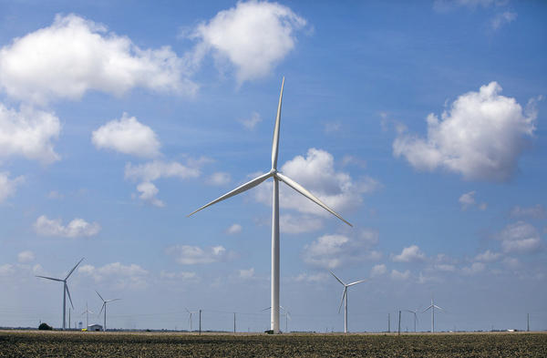 Texas leads the country in wind-energy production.