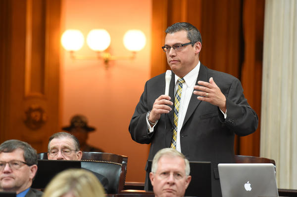 Rep. Ron Hood (R-Ashville) speaks on the House floor.