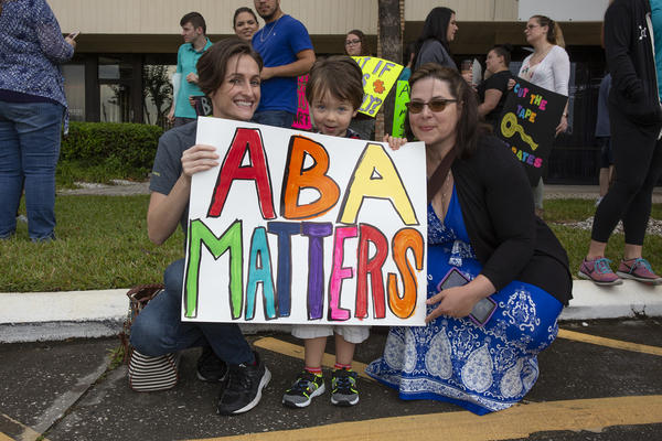 Adrianne Smith, behavior analyst and co-owner of Creative Behavior Solutions in Largo, attended AHCA's Tampa public meeting Friday, April 5 with her client, 3-year-old Dominick, and his mom, Renee Capone.