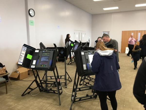 Voters cast ballots at Franklin County's early vote center in Columbus in 2018.