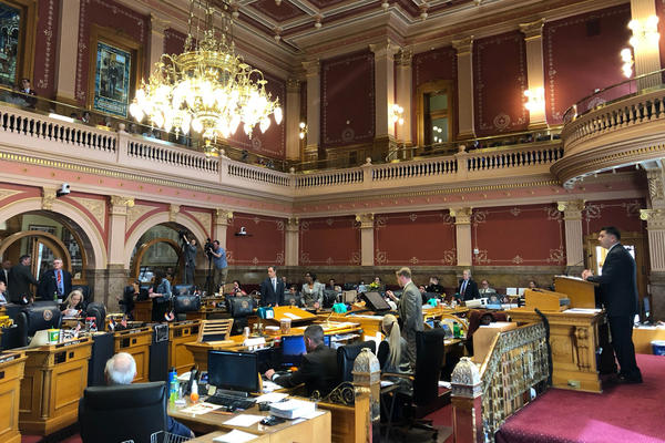The Colorado Senate debates legislation in March.