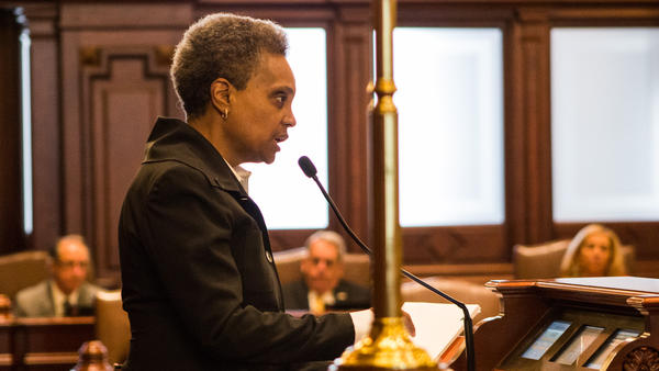 Chicago Mayor-elect Lori Lightfoot addressed the Illinois Senate on Thursday, April 11, 2019.