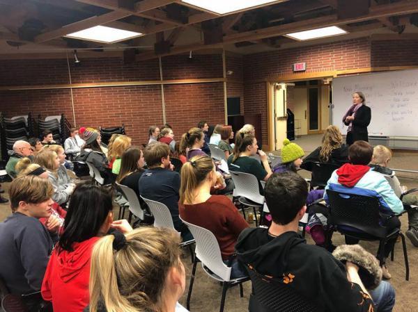 A Helena Youth Against Gun Violence meeting, Dec. 5, 2018.