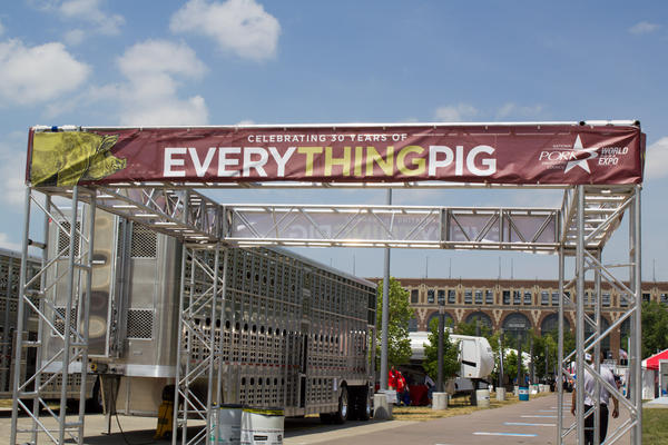 The 2019 World Pork Expo has been canceled. This photo is from the 2018 event in Des Moines, Iowa.