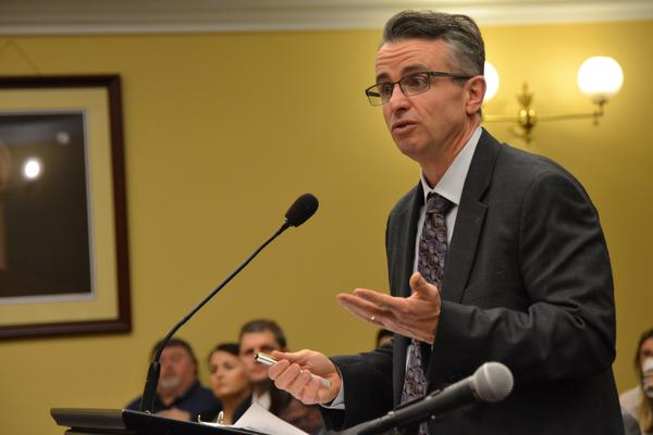 Dave Griffing, FirstEnergy Solutions vice president of government affairs, testifying before the Ohio House Energy and Natural Resources Subcommittee on Energy Generation.