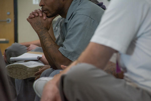 The St. Louis University Prison Program is one of an estimated 200 college in prison programs across the country. Men at the Eastern Reception, Diagnostic and Correctional Center in Bonne Terre, Mo. listen to a philosophy discussion hosted by the program.