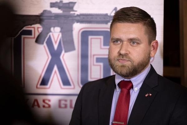 Chris McNutt, executive director for Texas Gun Rights, held a press conference Tuesday to demand an apology from House Speaker Dennis Bonnen.